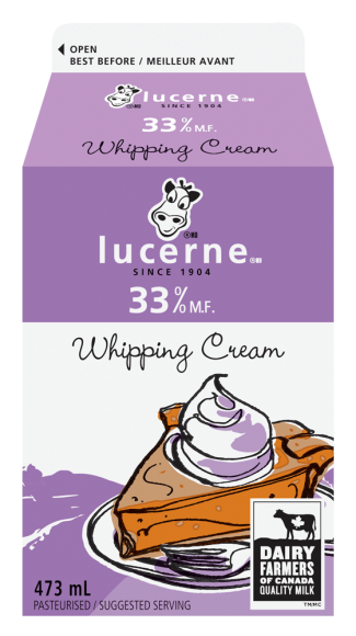 Lucerne 33% Whipping Cream 473 Milliliters