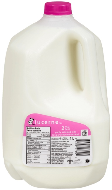 Lucerne 2% Partly Skimmed Milk 4 Liters Jug