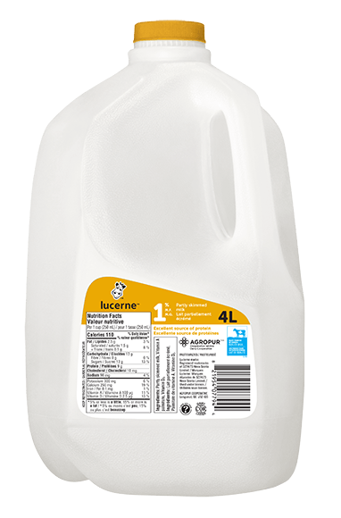 Lucerne 1% Partly Skimmed Milk 4 Liters Jug